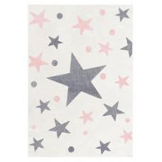 Dětský koberec STARS krémová/růžová 120 x 180 cm Preview
