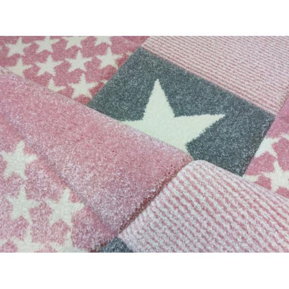 Dětský koberc STARWALK růžový 120 x 180 cm