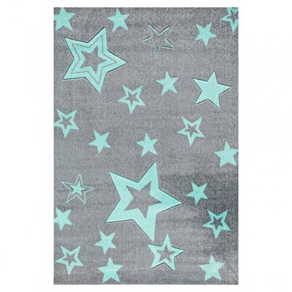 Dětský koberec STARLIGHT grau/mint - 100x160 cm