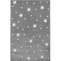 Dětský koberec HEAVEN stříbrnošedý/ bílý 120 x 170 cm