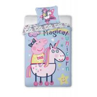 Povlečení Peppa Pig - Unicorn 140 x 200 cm