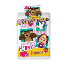 Dětské povlečení 135x100 + 60x40 cm Máša a medvěd Friends Preview