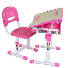 FUN DESK Bambino Dětský psací stůl s židličkou s regulovatelnou výškou - růžový Preview