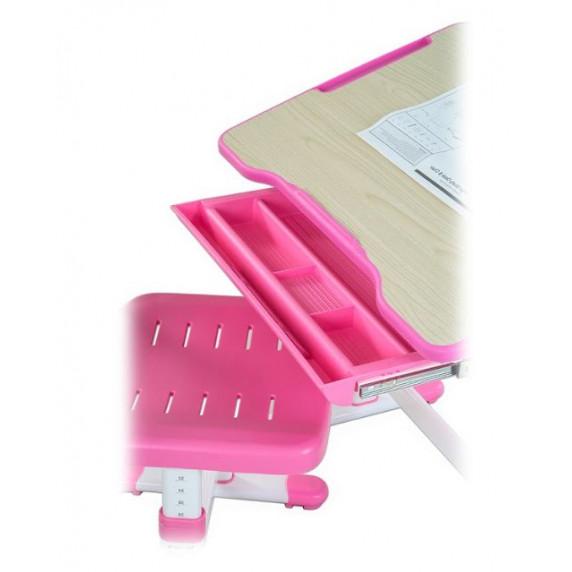 FUN DESK Bambino Dětský psací stůl s židličkou s regulovatelnou výškou - růžový