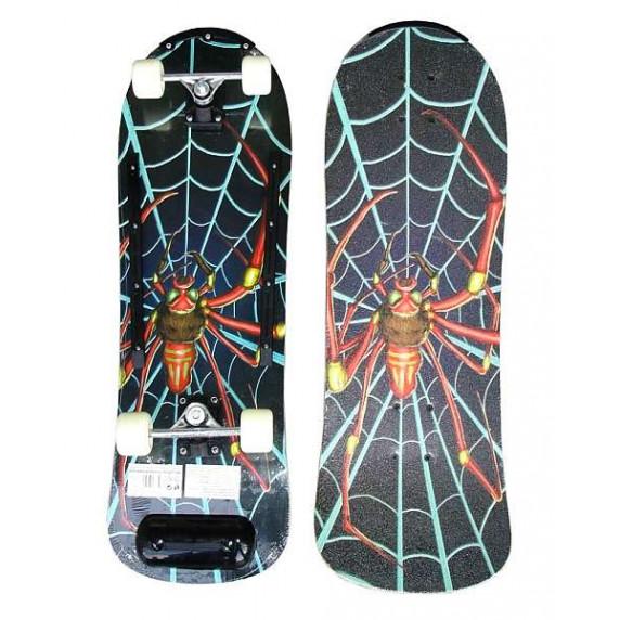 Dřevěný Skateboard ACRA - barevný pavouk