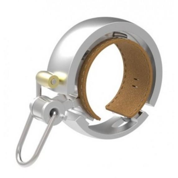 KNOG OI Luxe zvonek na kolo - stříbrný velký