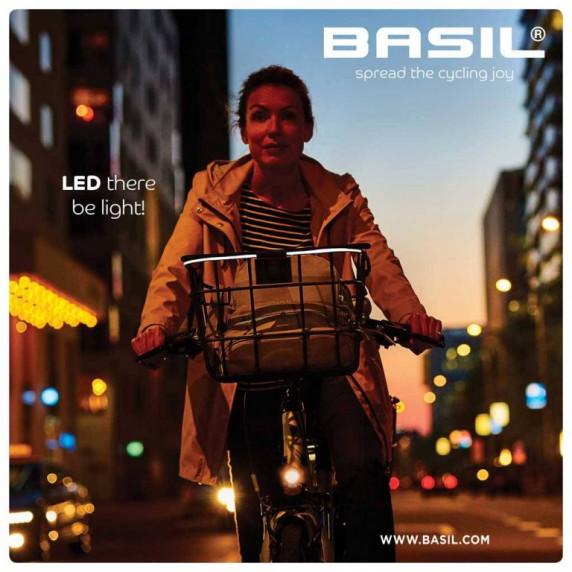 Košík s LED osvětlením BASIL BREMEN ALU