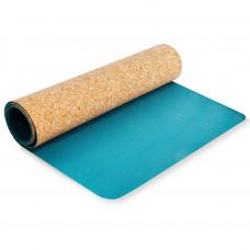 Spokey SAVASANA jóga podložka na cvičení korková 4 mm - tyrkysová Preview