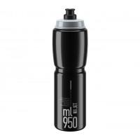 Cyklistická láhev ELITE JET CLEAR 950 ml - černá/šedá