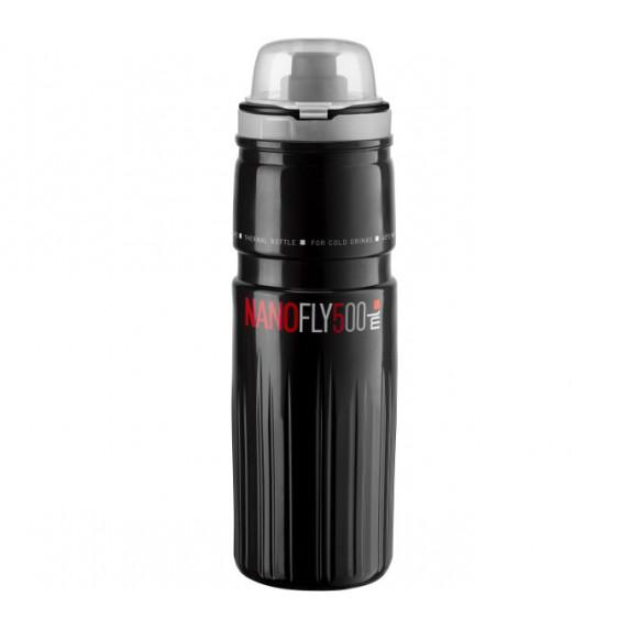"""Cyklistická lahev ELITE NANOFLY 21"""" Thermo 500 ml - černá"""
