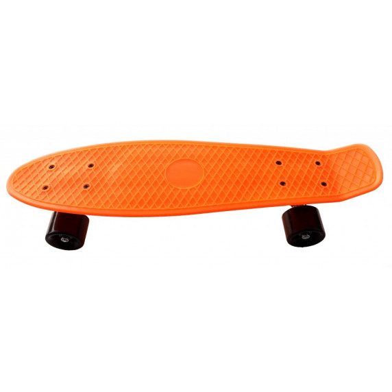 Skateboard PLASTIC - oranžový