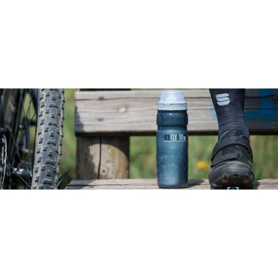 Cyklistická láhev ELITE ICE FLY 21´ 650 ml - kouřově šedá