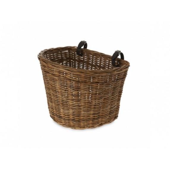 Přední košík BASIL DARCY L RATTAN - přírodní hnědý