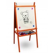 Dětská tabule Inlea4Fun TEDDY MOP - Oranžová Preview