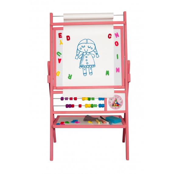 Inlea4Fun dětská oboustranná tabule BIG PINK