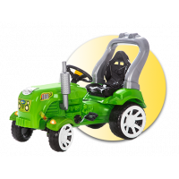 Inlea4Fun Big Farmer traktor s pedály - Zelený