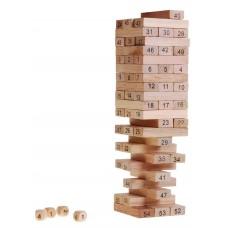 Inlea4Fun Wood Toys Jenga dřevěná společenská hra Preview