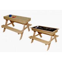 ZOT dětská dřevěná lavice 2v1 do exteriéru