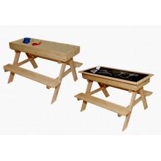 ZOT dětská dřevěná lavice 2v1 do exteriéru Preview