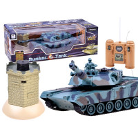 RC bojový tank TIGER s interaktivním bunkrem, 1:28 2,4GHz