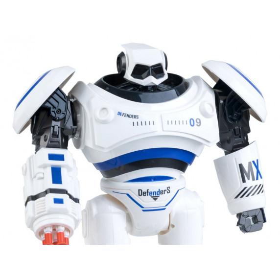 Robot na dálkové ovládání 33 cm Inlea4Fun RC Defenders - modrý