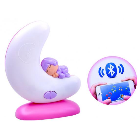 Dětská noční lampa s hudební skříňkou Inlea4Fun SWEET DREAMS - růžová