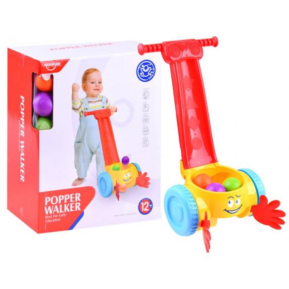 Dětské chodítko s míčky a melodií Inlea4Fun POPPER WALKER