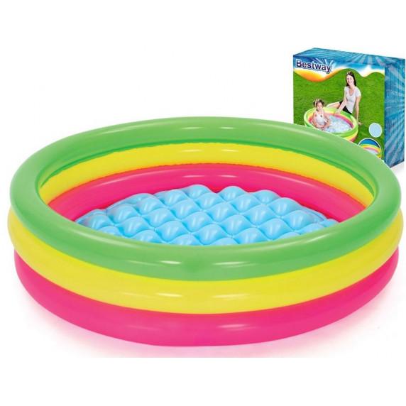 BESTWAY dětský bazén Duha 102 x 25 cm 51104