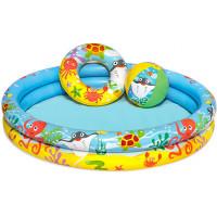 BESTWAY dětský kulatý bazén NEMO + nafukovačka + míče 51124