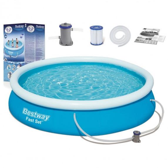 BESTWAY Fast Set samonosný rodinný bazén s kartušovou filtrací 366 x 76 cm 57274
