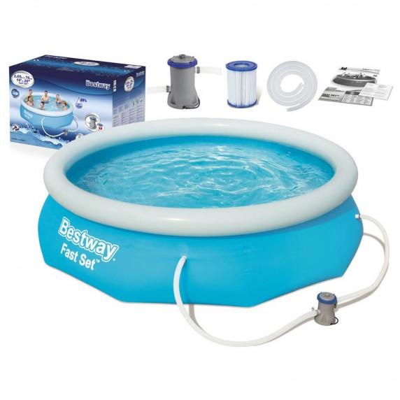 BESTWAY Fast Set samonosný rodinný bazén s kartušovou filtrací 305 x 76 cm 57270