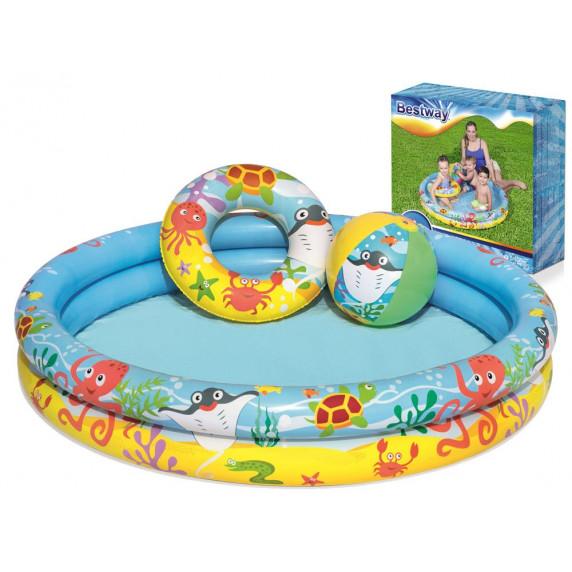 BESTWAY 51124 Nemo set (bazánek+kruh+míč) 122 x 20 cm