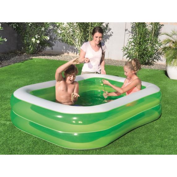 Dětský bazén Family BESTWAY malý 201 x 150 x 51 cm - zelený
