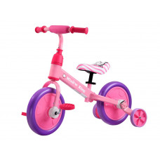 Inlea4Fun Dětské cykloodrážedlo 3 v 1 - růžová Preview