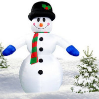 Inlea4Fun nafukovací svítící sněhulák - 350 cm
