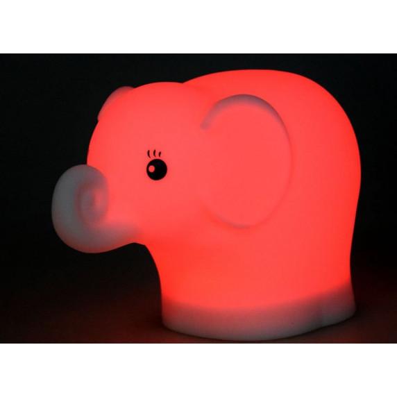 Dětská noční lampa silikonová LED - Sloník