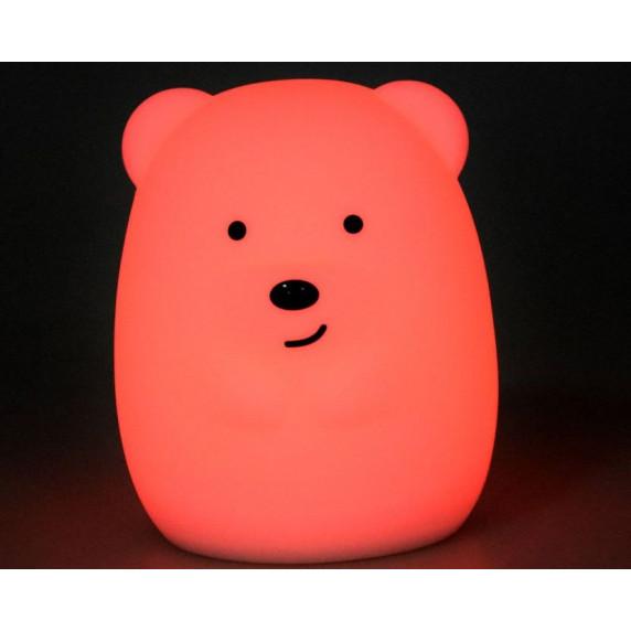 Dětská noční lampa silikonová LED - Medvídek