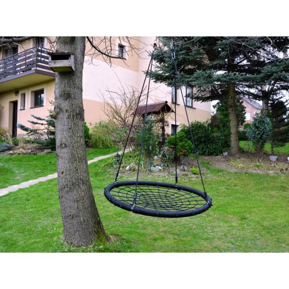 Inlea4Fun Záhradní houpačka hnízdo 120 cm - černá