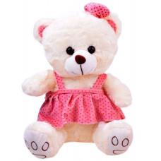Inlea4Fun Plyšový medvídek v sukýnce 30 cm - bílý Preview