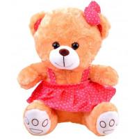 Plyšový medvídek v sukýnce Inlea4Fun 30 cm - hnědý