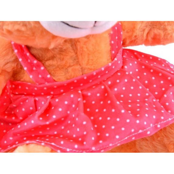 Inlea4Fun Plyšový medvídek v sukýnce 30 cm - hnědý