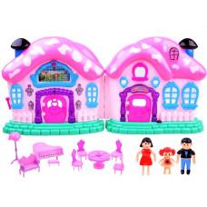 Inlea4Fun Beautiful House Dětský rozkládací domeček s nábytkem a panenkami Preview