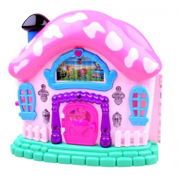 Inlea4Fun Beautiful House Dětský rozkládací domeček s nábytkem a panenkami