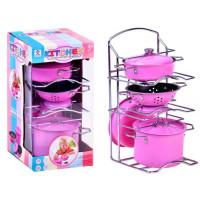 Inlea4Fun Dětské nádobí se stojanem