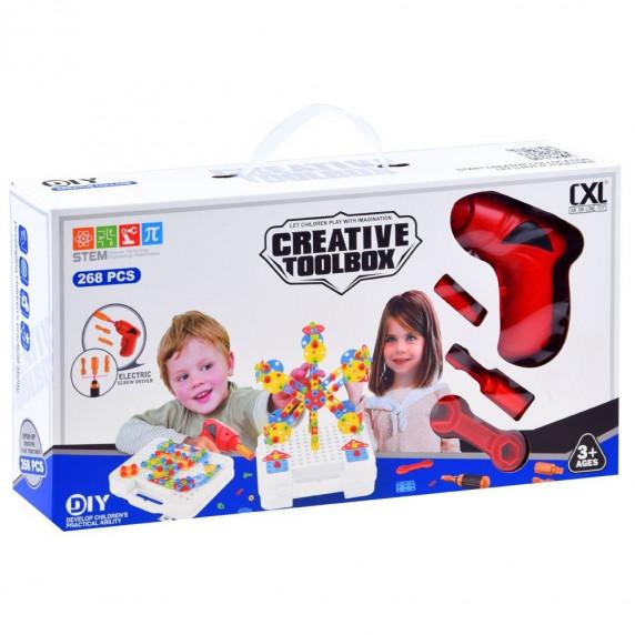 Inlea4Fun Konstrukční kreativní sada CREATIVE MAGICAL PANEL 268 kusů