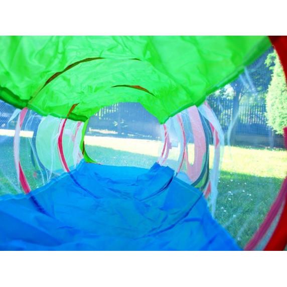 Inlea4Fun Tent with Tunel Dětský hrací stan se spojovacím tunelem