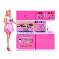 Inlea4Fun ANLILY Kuchyňka s panenkou a doplňky