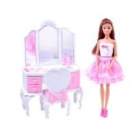 Panenka s toaletním stolkem a příslušenstvím Inlea4Fun ANLILY Princess Dresser