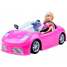 Inlea4Fun Panenka Anlily v růžovém kabrioletu pro panenku Preview