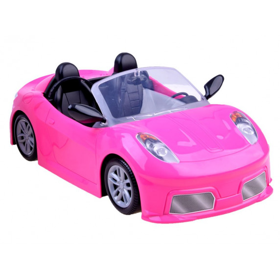 Panenka Anlily v růžovém kabrioletu pro panenku Inlea4Fun